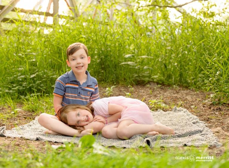 Alexis Merritt Photography Mill Creek twin portraits