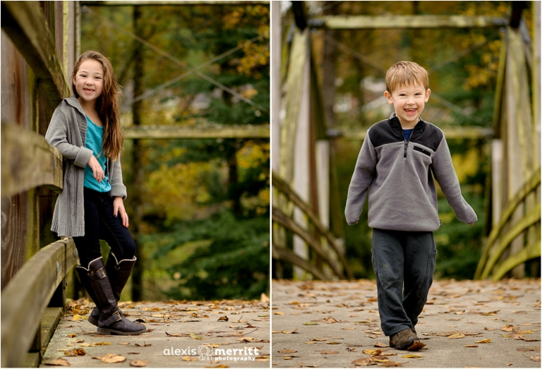 Family of four in fall |Bothell Child Photographer