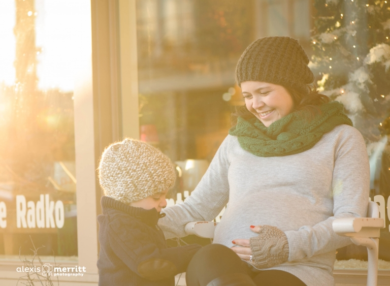 urban maternity portraits with gorgeous mama and big brother-to-be | Alexis Merritt Photography