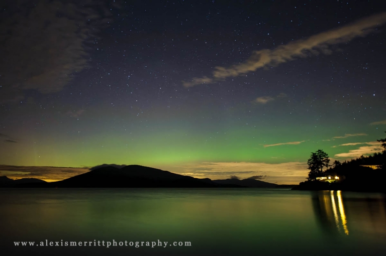 Northern Lights - Aurora Borealis in Anacortes, WA | Alexis Merritt Photography