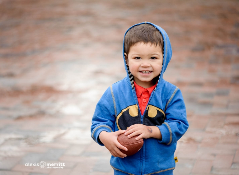 Boy in Batman hoodie   Seattle Children Photographer