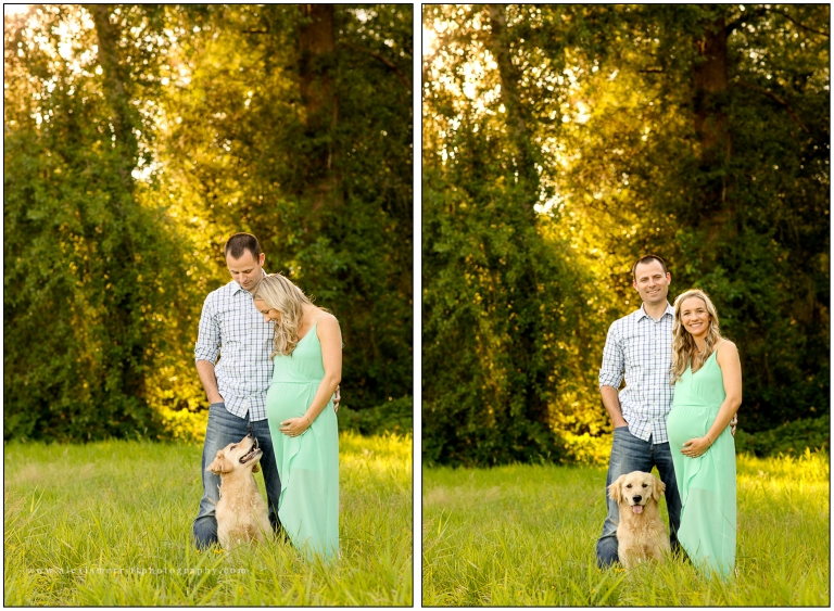 Expecting couple with dog | Bothell Pregnancy Photographer