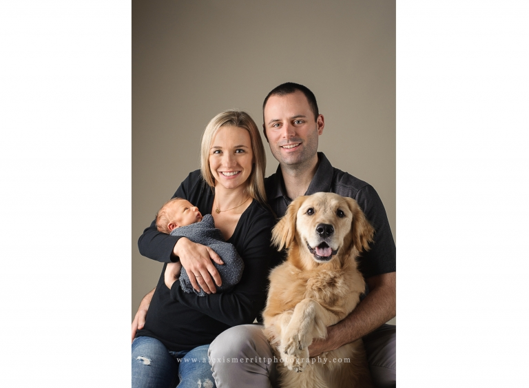 Family with baby and dog | Seattle studio photographer
