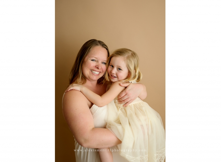 Mom and Daughter | Bothell Studio Maternity Photographer
