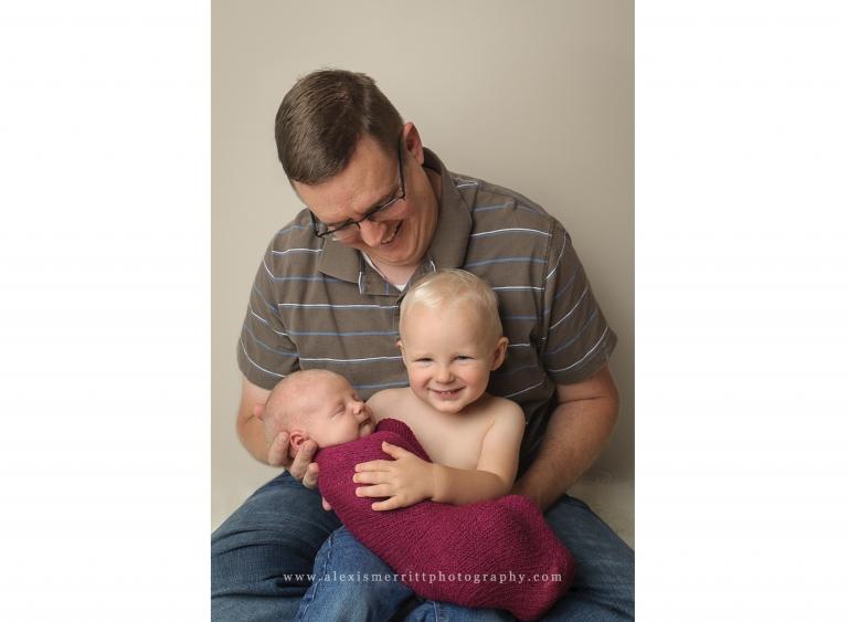 Dad, toddler, baby   Seattle Newborn Photographer