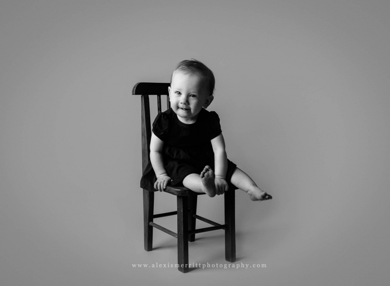 1 year old studio session | Bothell Baby Photographer
