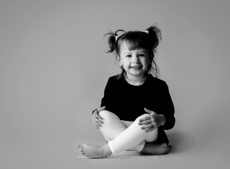 Little girl in studio | Bothell child photographer