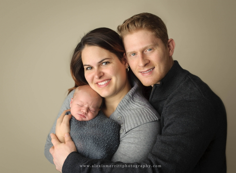 Mom Dad and newborn | Bothell Studio Photographer