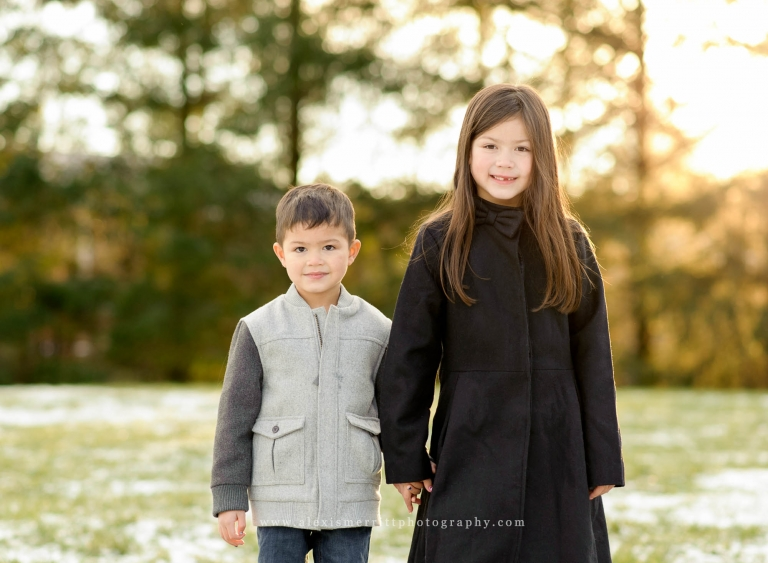 Brother and Sister at North Creek Park | Seattle Family Photographer