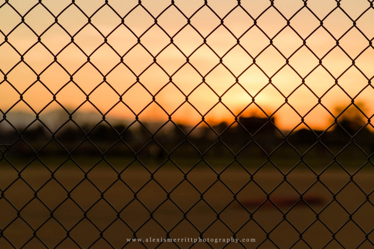 Baseball field at sunset - abstract | Seattle Photographer