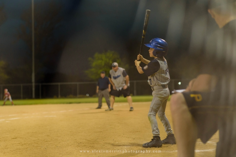 Boy warming up at baseball game | Seattle Photographer