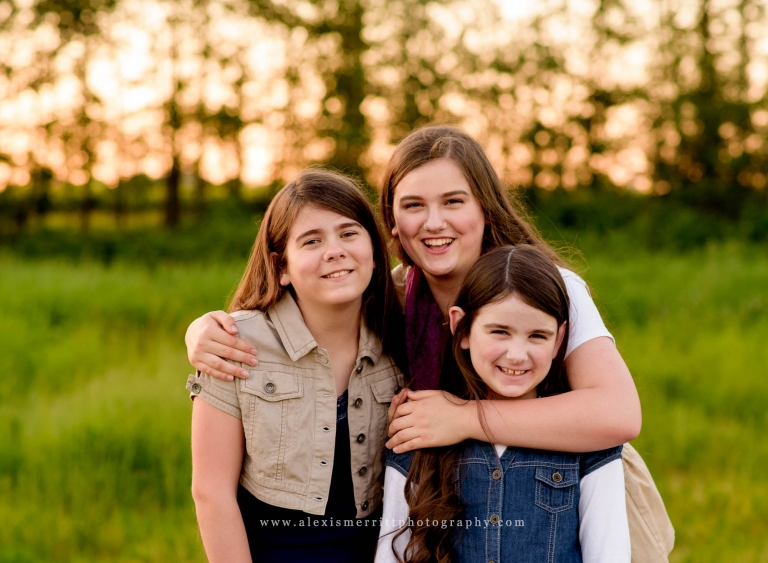 Portrait of sisters at golden hour | Bothell Family Photographer