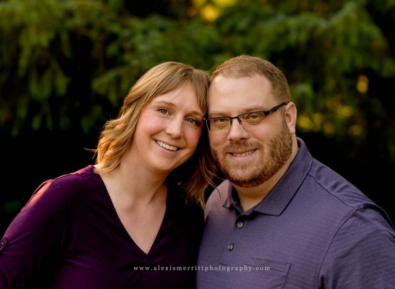 Couple smiling together | North Creek Park Bothell Family Photographer