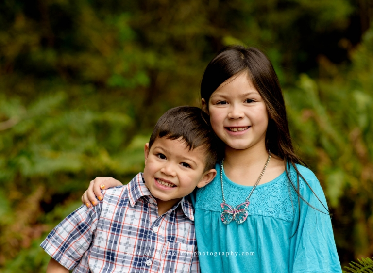 Brother and Sister portrait | UW Arboretum | Seattle Family Photographer